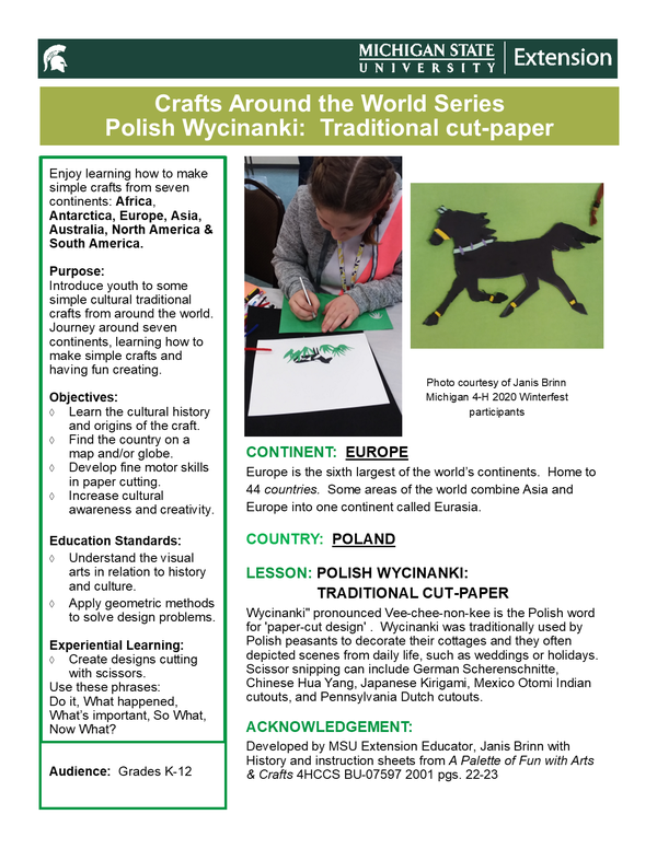 Craft Around the World Series Polish Wycinanki: Traditional cut-paper