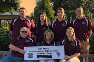 Clinton County 4-H youth represent Michigan at the 2018 North American Invitational 4-H Dairy Quiz Bowl Contest
