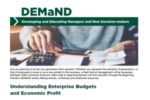 Bulletin E-3410: Understanding Enterprise Budgets and Economic Profit