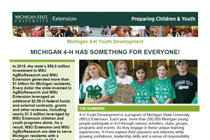 Michigan 4-H has Something for Everyone!