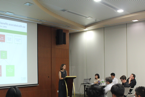 Dr. Vogt speaking at a parks seminar in Singapore