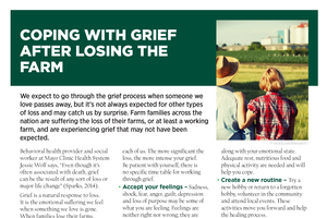 Coping with Grief after Losing the Farm