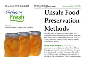 Unsafe Food Preservation Methods