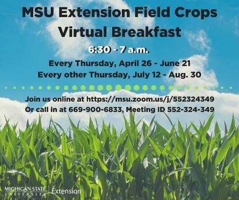 field crops virtual breakfast to resume july 12 field crops