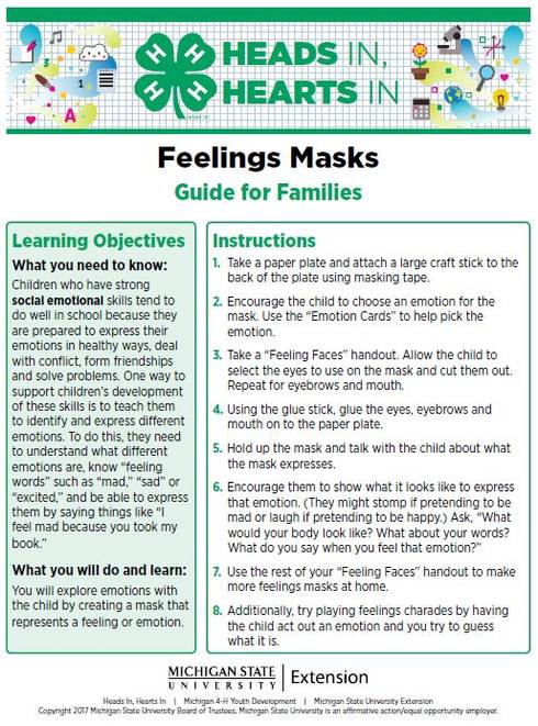 Feelings Mask cover page.