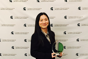 MSU Urban & Regional Planning's Peilei Fan receives Cross-disciplinary Faculty Research Award from the College of Social Science