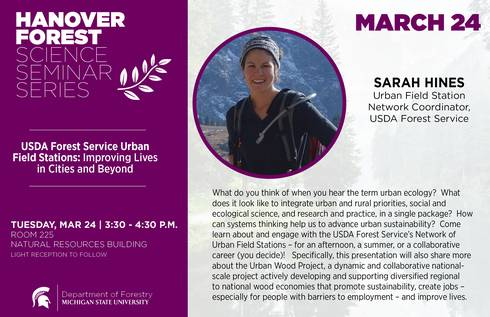 Hanover seminar series invitation march 24 sarah hines