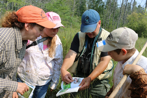 A hands-on career experience for youth working along Michigan State University Extension scientists from Michigan Natural Features Inventory. Photo credit: Brandon Schroeder, Michigan Sea Grant Extension