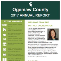 Cover of the Ogemaw County Annual Report 2017-18.
