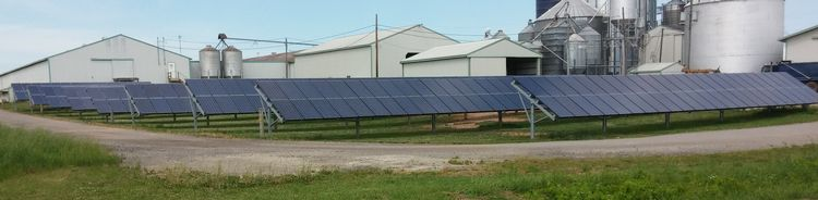 Solar array on the Langeland Farm in Ottawa County, Michigan.