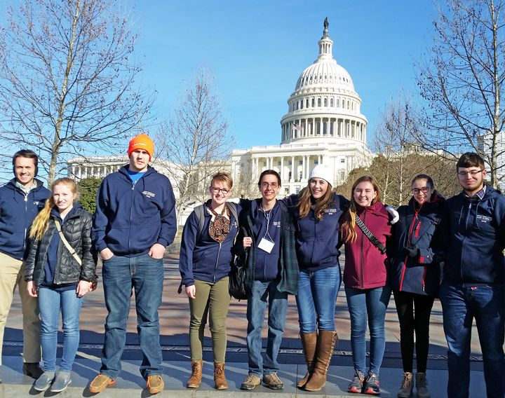 Michigan delegates at the 2019 National Youth Summit on Agri-Science.