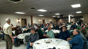 Mike Staton presents at soybean meeting