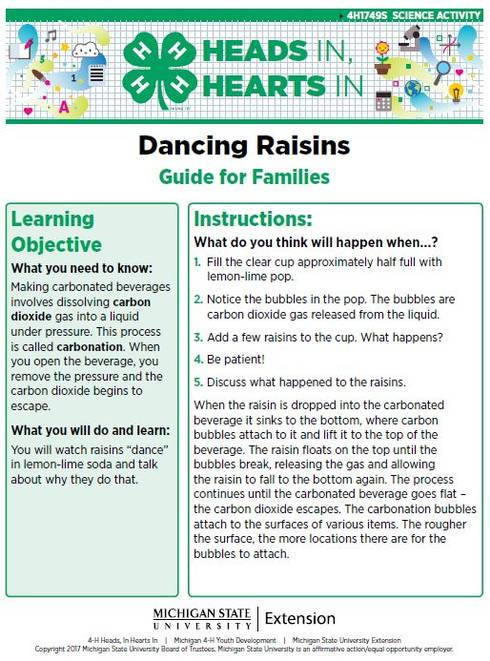 Dancing Raisins cover page.