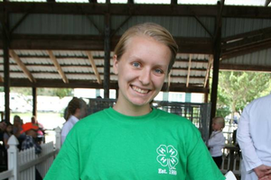 4-H teen leader Grace Schmidt will lead us today and tomorrow