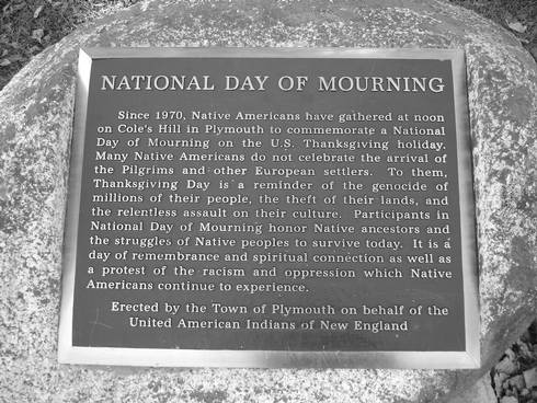 National Day of Mourning plaque