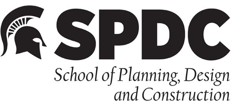 Image showing the name of the School of Planning, Design and Construction.