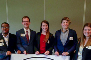 FMA student board members at an event in Grand Rapids, Michigan.