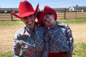 Heather Werkema-Smith and her youngest daughter, Marley, after a showmanship class.