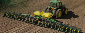 A planter being used in field