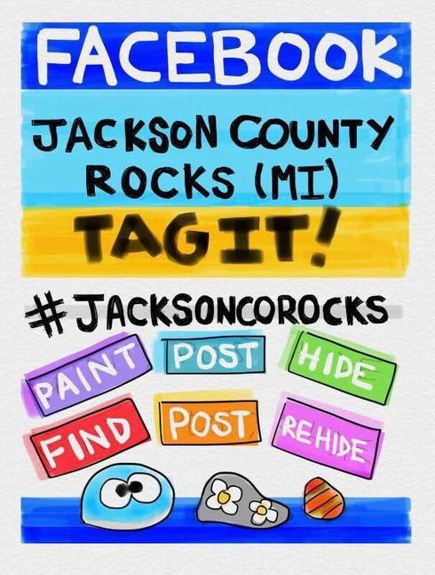 "The rules for Jackson County rocks ""program"" as they appear on the official Facebook page."