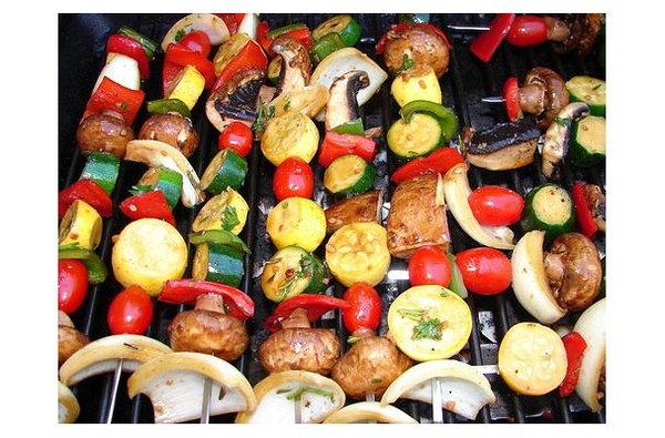 Skewering vegetables is a great way to enjoy a variety of grilled vegetables. | MSU Extension