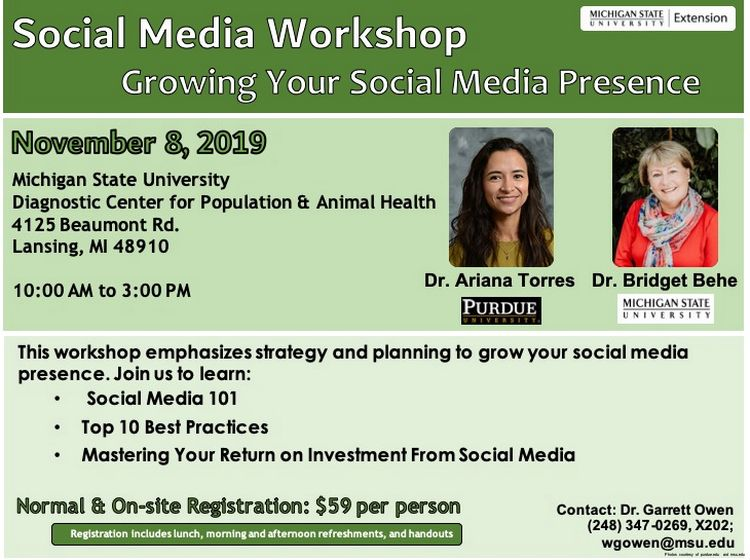 Social media workshop flyer