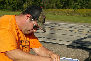 Conservation Stewards Volunteer Brad Fashbaugh engages in Project Monarch Health, a citizen science project which helps sample wild monarch butterflies to help track the spread of a protozoan parasite across North America.