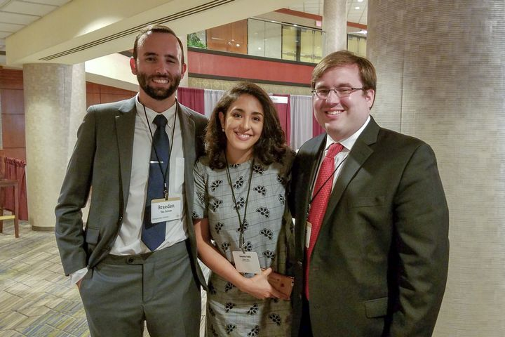 The winning AFRE team of Braeden Van Deynze, Stephen Morgan, and Samantha Padilla