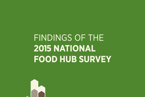 Cover of the 2015 National Food Hub Survey report.