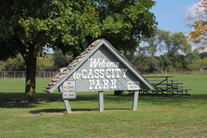 A sign welcoming you to Cass City Park