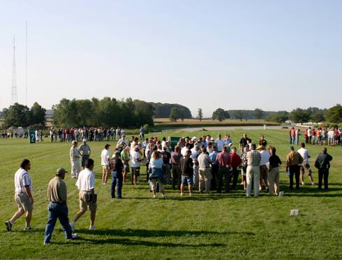 MSU Turfgrass Field Day. Photo by Kevin Frank, MSU.