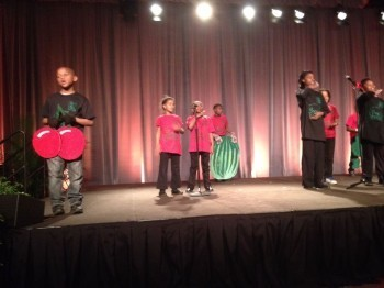 The Food Warriors performing at the Kellogg Food & Community Gathering in May. Photo courtesy of Hanifa Adjuman.