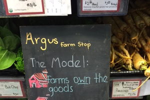 Argus Food Stop Model sign