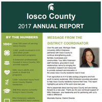 Cover of the Iosco County Annual Report 2017-18