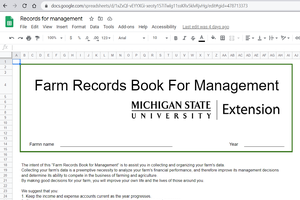 Downloading or printing the Farm Records Book for Management Video Tutorial