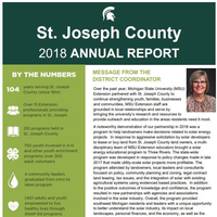 St. Joseph County Annual Report 2018-19 Cover