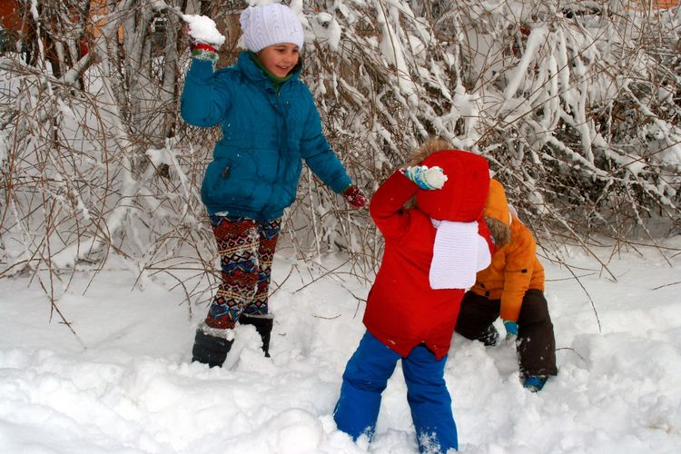 It is important to take kids outside to play, regardless of the weather.