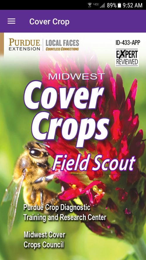 Midwest Cover Crops Field Scout mobile application