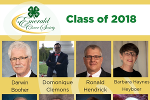2018 Emerald Clover Society inductees.