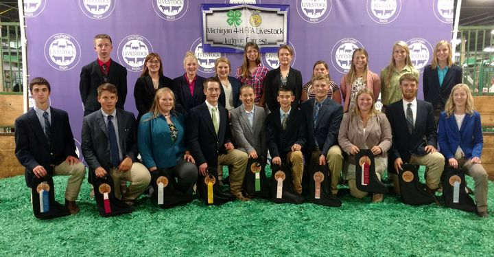 The top 20 youth in the senior 4-H division. (Photo by Michigan State University Extension)