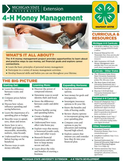 Cover of Money Management Snapshot resource