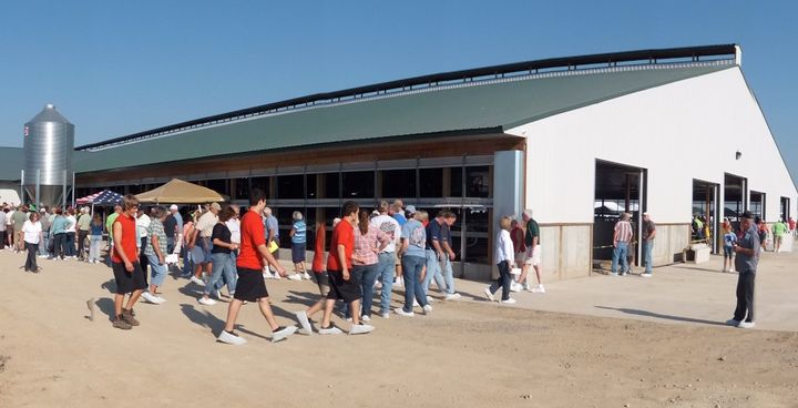 Consumer confidence in dairy farm housing and animal care increases greatly once they visit a modern dairy farm.