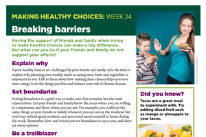Making Healthy Choices: Week 24