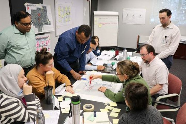 Group working together during a recent NCI training in Houston, Texas.