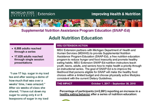 SNAP-Ed Adult Nutrition Education Report 2017-2018