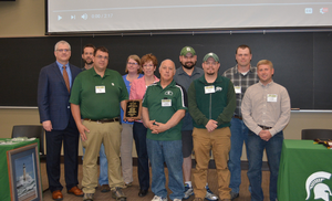 South Campus Livestock Farms Management Team awarded 2018 CANR Outstanding Team Award
