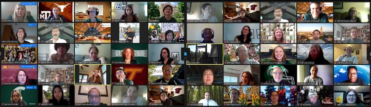 Screen capture of zoom meeting attendees.