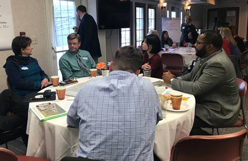 Group work during a recent NCI-facilitated charrette in Novi, Mich.