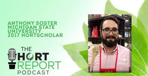 MSU Horticulture Student Anthony Soster