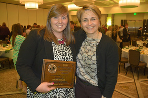 Haley Schulz and Dr. Kelly Millenbah, CANR Honors Banquet 2015